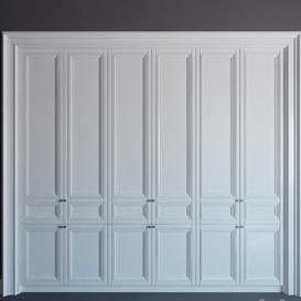 Built-in wardrobe 10 - fitted wardrobe 10 LT 3d model Download  Buy 3dbrute