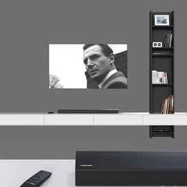 TV wall 030  LT 3d model Download  Buy 3dbrute