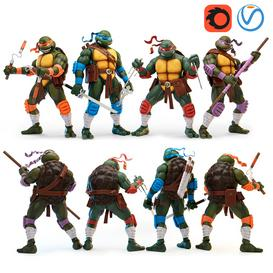 Teenage Mutant Ninja Turtles 3d model Download  Buy 3dbrute
