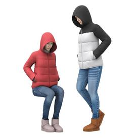 Girl in a jacket with a hood 3d model Download  Buy 3dbrute