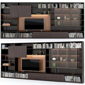 TV zone Molteni 505 wall system 3d model Download  Buy 3dbrute