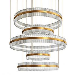 Contemporary chandelier crystal brass 3d model Download  Buy 3dbrute