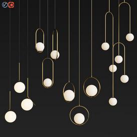 Four Hanging Light Set 04 3d model Download  Buy 3dbrute