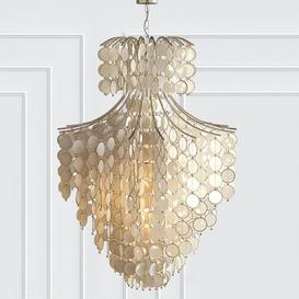 Dripping Capiz 2-Light Chandelier 3d model Download  Buy 3dbrute