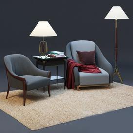 Furniture Set  Armchair 3d model Download  Buy 3dbrute