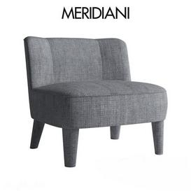 Meridiani Isabelle Small Armchair 3d model Download  Buy 3dbrute