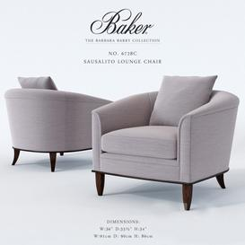 Baker Sausalito Lounge  No 6728C Armchair 3d model Download  Buy 3dbrute