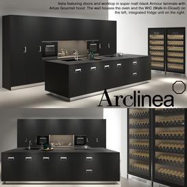 Arclinea italia black armour 3d model Download  Buy 3dbrute