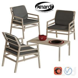 Nardi Aria set 3d model Download  Buy 3dbrute