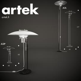 Artek JL2P JL2L 3d model Download  Buy 3dbrute