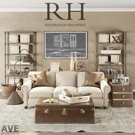 AVE Restoration Hardware Loft set 3d model Download  Buy 3dbrute