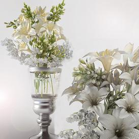 Bouquet of lilies with lilies of the Valley 3d model Download  Buy 3dbrute