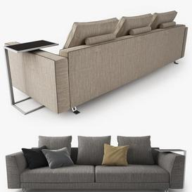 Busnelli Burton Sofa LT 3d model Download  Buy 3dbrute