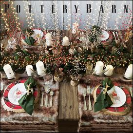 Christmas table setting Pottery Barn 3d model Buy Download 3dbrute