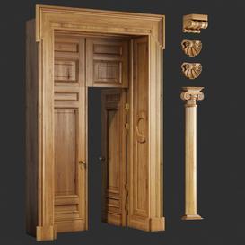 Classic Door 23 3d model Download  Buy 3dbrute