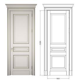Classic door with cornice 3d model Download  Buy 3dbrute