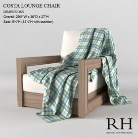 Costa Lounge Chair 3d model Download  Buy 3dbrute