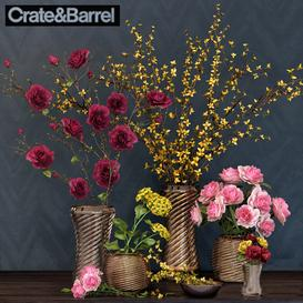 Crate & Barrel Flower set 3d model Download  Buy 3dbrute