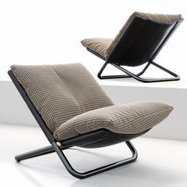 Cross low armchair by ARFLEX 3d model Download  Buy 3dbrute