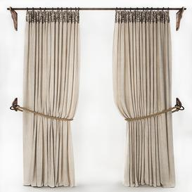 CURTAIN WITH ROPE 2 3d model Download  Buy 3dbrute