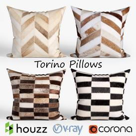Decorative pillows Houzz-Torino set 051 3d model Download  Buy 3dbrute