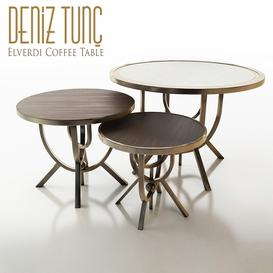 Deniz Tunc Elverdi Coffee Table 3d model Download  Buy 3dbrute