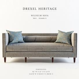 Drexel Heritage-Wilhelm Sofa 3d model Download  Buy 3dbrute