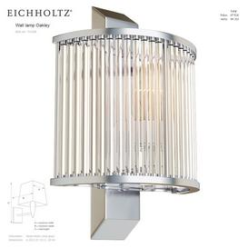 EICHHOLTZ Wall lamp Oakley 111248 111249 3d model Download  Buy 3dbrute