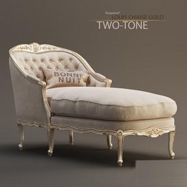 Eloquencea Louis Chaise in Gold-Taupe Two-Tone 3d model Download  Buy 3dbrute