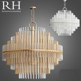 Emile Chandelier Collection RH 3d model Download  Buy 3dbrute