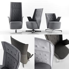 ESTEL EMBRACE lounge chairs 3d model Download  Buy 3dbrute