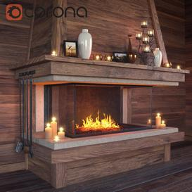 Fireplace set 3d model Download  Buy 3dbrute
