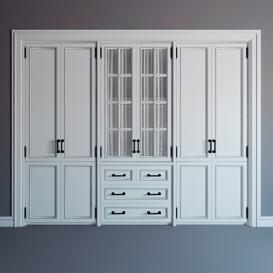 fitted wardrobe 07 3d model Download  Buy 3dbrute