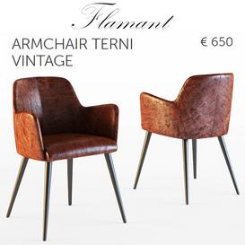 Flamant - ARMCHAIR TERNI VINTAGE 3d model Download  Buy 3dbrute