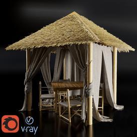 Gazebo made of bamboo 3d model Download  Buy 3dbrute
