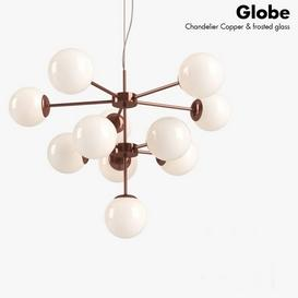 Globe Chandelier Copper Lamp 3d model Download  Buy 3dbrute