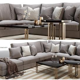 Henley modular sofa and side-coffee table the Sofa and chair company 3d model Download  Buy 3dbrute