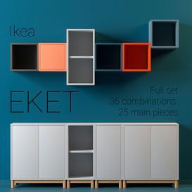Ikea EKET full set 3d model Download  Buy 3dbrute