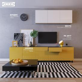 IKEA living room 3d model Download  Buy 3dbrute