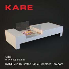 KARE 76146 Coffee Table Fireplace Tempore 3d model Download  Buy 3dbrute