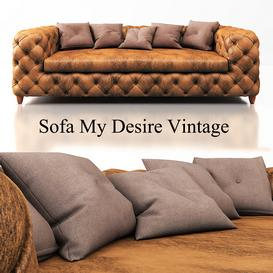 KARE-Sofa My Desire Vintage 3-Seater 3d model Download  Buy 3dbrute