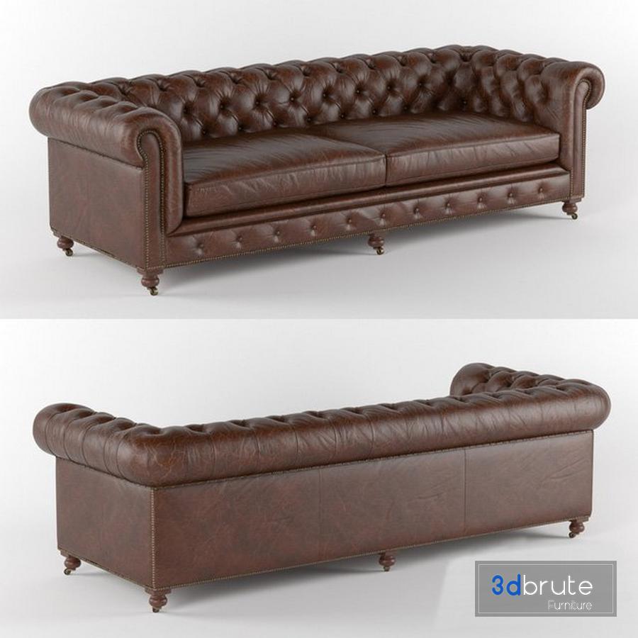 Kensington Leather Sofa Restoration
