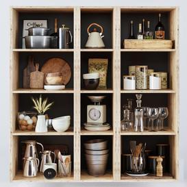 Kitchen Decorative set 050 3d model Download  Buy 3dbrute