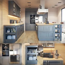 Kitchen Fortwood Factory Call with Decor 3d model Download  Buy 3dbrute