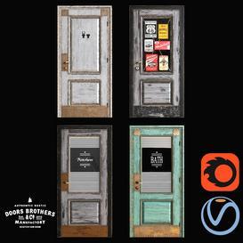 Loft Doors from Doors Brothers 3d model Download  Buy 3dbrute