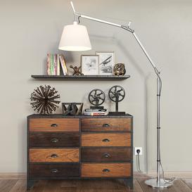Loft style decorative set 3d model Download  Buy 3dbrute