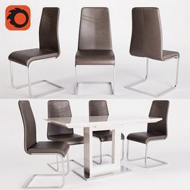 Mebelaero Table ICE & Chair B176 3d model Download  Buy 3dbrute