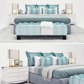 modern bed 3d model Download  Buy 3dbrute