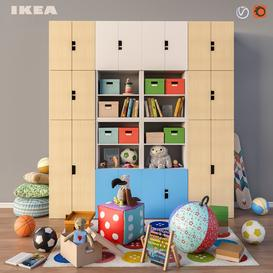 Modular furniture- accessories and toys IKEA set 3 3d model Download  Buy 3dbrute