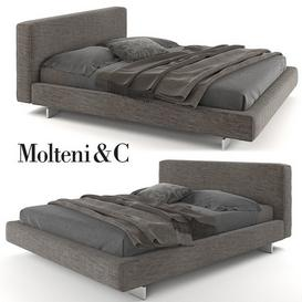 Molteni Bed 3d model Download  Buy 3dbrute